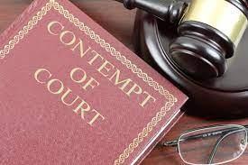 Respondent Disputes Contempt Charges